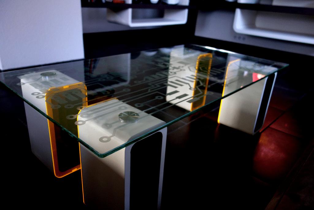 Assez Table en verre décorée avec des stickers SD93